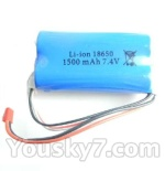 Wltoys L959 L202-parts-43 1500mAh-7.4v-Red-JST-Plug-Battery(use for L959)