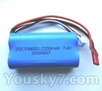 Wltoys L959 L202-parts-44 Upgrade Wltoys L96 Battery 2200mAh-7.4v-Red-JST-Plug-Battery(use for L959)