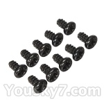 Wltoys L959 L202-parts-69 Round Head Screw Set 1.8x3mm(10pcs)