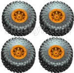 Wltoys 10428-D Parts-Wheel unit(4 set)-Orange-10428-D.0690 (1)