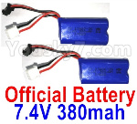 Wltoys 10428-D Parts-Battery-2pcs-7.4V 380mah Battery with SM Plug-10428-D.0700