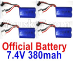 Wltoys 10428-D Parts-Battery-4pcs-7.4V 380mah Battery with SM Plug-10428-D.0700