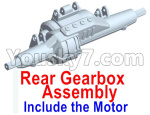 Wltoys 10428-E Parts-Rear drive gearbox assembly (lithium version)-Include the Motor-10428-D.0696