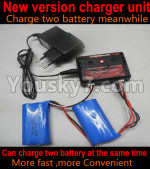 Wltoys 10428-E Parts-Upgrade charger and Balance charger-Can charge two battery at the same time