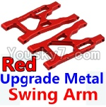 Wltoys 10428 Parts-09-02 Upgrade Metal Swing Arm-Red-2pcs