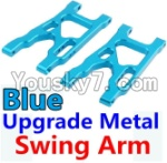 Wltoys 10428 Parts-09-03 Upgrade Metal Swing Arm-Blue-2pcs