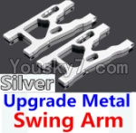 Wltoys 10428 Parts-09-05 Upgrade Metal Swing Arm-Silver-2pcs