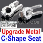 Wltoys 10428 Parts-10-04 Upgrade Metal C-Shape Seat-Silver-2pcs