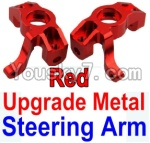 Wltoys 10428 Parts-11-02 Upgrade Metal Steering arm-Red-2pcs
