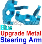 Wltoys 10428 Parts-11-03 Upgrade Metal Steering arm-Blue-2pcs