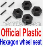 Wltoys 10428 Parts-12-01 Official Plastic 12MM Hexagon wheel seat,Tire adapter(4pcs)