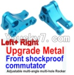 Wltoys 10428 Parts-14-03 Upgrade Metal Front shockproof commutator(Left and Right)-Blue