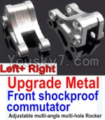 Wltoys 10428 Parts-14-05 Upgrade Metal Front shockproof commutator(Left and Right)-Silver