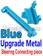 Wltoys 10428 Parts-15-03 Upgrade Metal Steering connecting piece-Blue