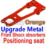 Wltoys 10428 Parts-16-03 Upgrade Metal Front Shock absorbers Positioning seat-Orange