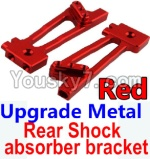 Wltoys 10428 Parts-26-02 Upgrade Metal Rear Shock absorber bracket-Red-2pcs
