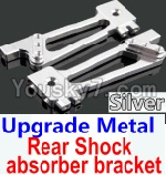Wltoys 10428 Parts-26-05 Upgrade Metal Rear Shock absorber bracket-Silver-2pcs