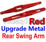 Wltoys 10428 Parts-29-02 Upgrade Metal Rear Swing Arm-Red-2pcs