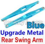 Wltoys 10428 Parts-29-03 Upgrade Metal Rear Swing Arm-Blue-2pcs