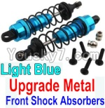 Wltoys 10428 Parts-36-02 Upgrade Metal Front Shock Absorbers(2pcs)-Light Blue