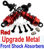 Wltoys 10428 Parts-36-04 Upgrade Metal Front Shock Absorbers(2pcs)-Red