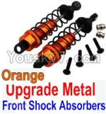 Wltoys 10428 Parts-36-05 Upgrade Metal Front Shock Absorbers(2pcs)-Orange