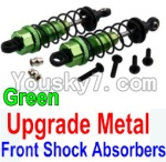 Wltoys 10428 Parts-36-06 Upgrade Metal Front Shock Absorbers(2pcs)-Green