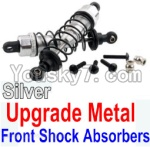 Wltoys 10428 Parts-36-07 Upgrade Metal Front Shock Absorbers(2pcs)-Silver