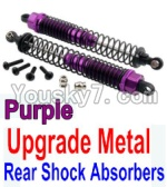 Wltoys 10428 Parts-37-03 Upgrade Metal Rear Shock Absorbers(2pcs)-Purple