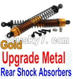 Wltoys 10428 Parts-37-04 Upgrade Metal Rear Shock Absorbers(2pcs)-Gold