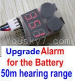Wltoys 10428 Parts-78-09 Upgrade Alarm for the Battery,Can test whether your battery has enouth power