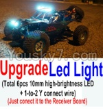Wltoys 10428 Parts-79-03 Upgrade LED light unit(Total 6pcs Light and 1pcs 1-TO-2 Y-shape connect wire)