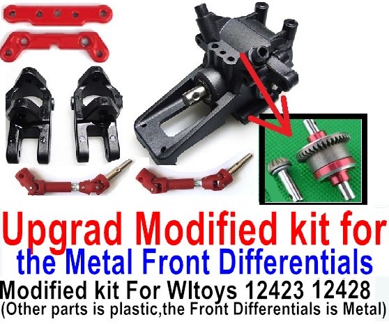 Wltoys 12428 Car Spare Parts Upgrade Modified kit for the Metal Front Differentials-Option 1