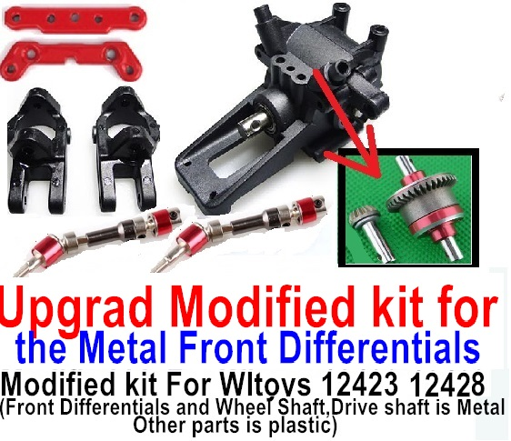 Wltoys 12428 Car Spare Parts Upgrade Modified kit for the Metal Front Differentials-Option 2