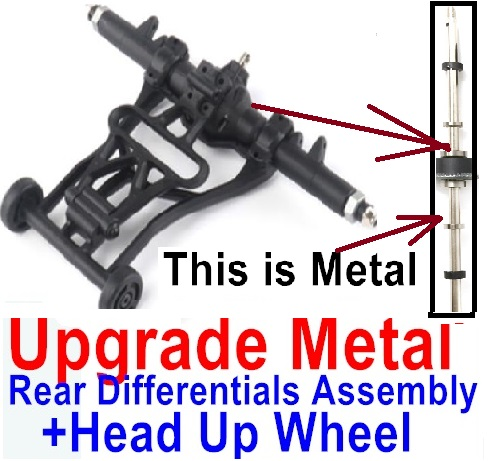 Wltoys 12428 Car Spare Parts Upgrade Head up Wheel and Upgrade Metal Rear Differentials Assembly