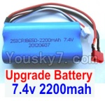 Wltoys 12428 Car Spare Parts-00123-02 Upgrade 7.4V 2200MAH Battery With T-Shape Plug(1pcs)-Size-65X38X18mm