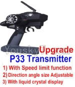 Wltoys 12428 Car Spare Parts-00126-03 pgrade P33 Transmitter(With Speed Limit function)