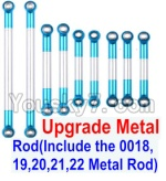 Wltoys 12428 Car Spare Parts-0022-03 Upgrade Metal Rod(Include the 0018,19,20,21,22 Metal Rod)-9pcs