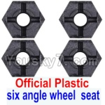Wltoys 12428 Car Spare Parts-0044-01 Official Plastic Combination device, six angle wheel seat(4pcs)