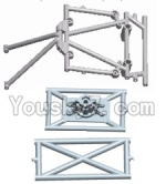 Wltoys 12428 Car Spare Parts-0054 The Roll cage,Anti-Roll Bar B,C,D,E & Spare Tire Rack