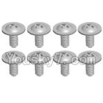 Wltoys 12428 Car Spare Parts-0069 Pan head screws with cross media(M2.0x4 PMW)-8pcs