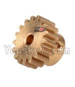 Wltoys 12428 Car Spare Parts-0088 17T Motor Gear(15.2X10MM)