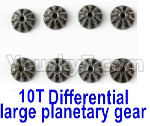 Wltoys 124018 Parts Metal 10T Differential large planetary gear(8pcs)-(Hardware)-124018.1271