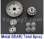 Wltoys 124018 Parts Whole Metal Kit-(Metal gear,total 8pcs)