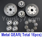 Wltoys 124018 Parts Whole Metal Kit-(Metal gear,total 16pcs)
