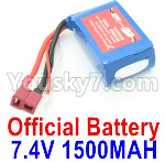 Wltoys 124018 Parts Battery-7.4V 1500MA 25C Battery-61x33x20mm-A959-B-23