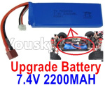 Wltoys 124018 Parts Upgrade Battery-7.4V 2200mah 25C Battery-1pcs-100X33X15mm-115.5g