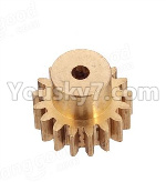 Wltoys 124018 Parts Copper motor Gear(1pcs)-0.7 Modulus-27 Teeth