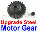 Wltoys 124018 Parts Upgrade Steel motor Gear(1pcs)-0.7 Modulus-Black-27 Teeth