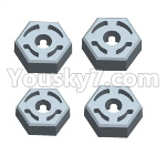Wltoys 124018 Parts Hex wheel seat assembly(4pcs)-124018.1266
